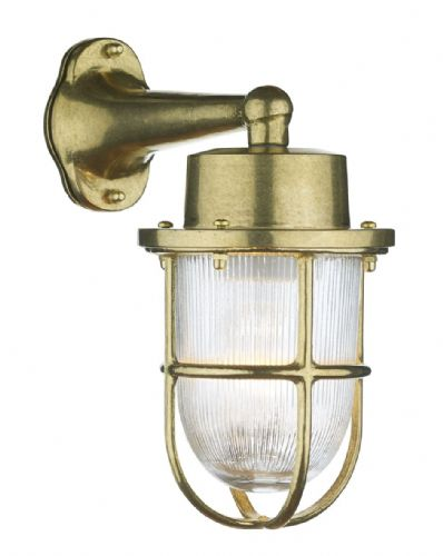 Harbour 1 Light Down Wall Light Brass IP64 HAR1540 (Hand made, 7-10 day Delivery)